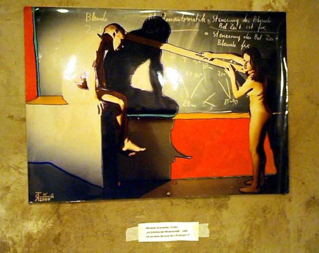Im Schatten der Wissenschaft, oder Ich verstehe Sie nicht, Herr Professor II / ya.tolstoy / photo, 50x70, 1997